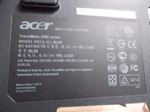 Фото: Ноутбук Acer Travel Mate 2490 BL50 на запчасти