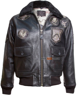 Шкіряна куртка Top Gun Offical Signature Series Jacket (чорна)
