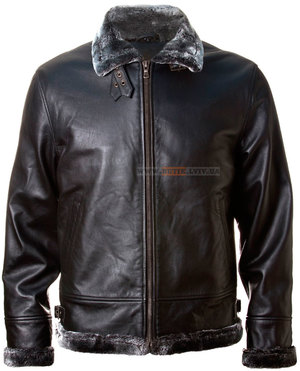 Шкіряна куртка Top Gun Leather Jacket with Bonded Fur