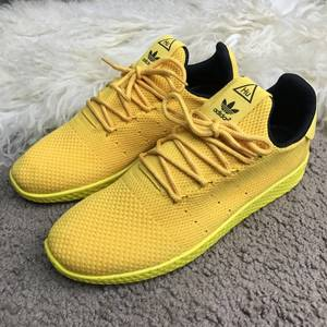 Топ качество! Кроссовки Adidas Pw Tennis HU Yellow, Red, White/Green