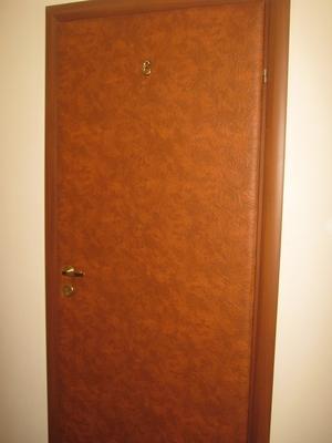 входная дверь в кожзаме